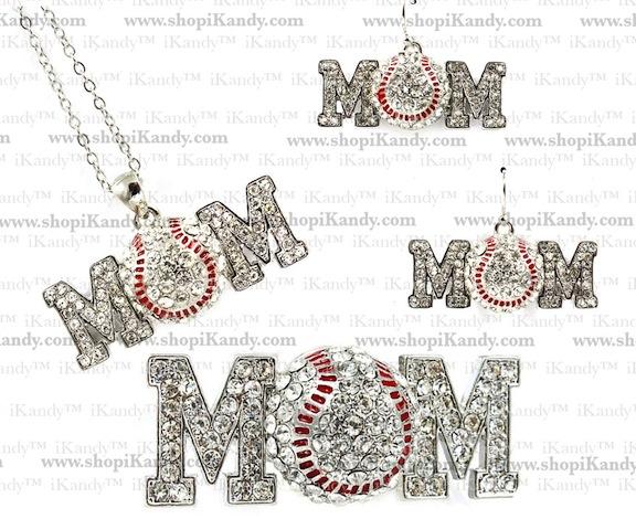 Baseball Mom Sports Jewelry Set