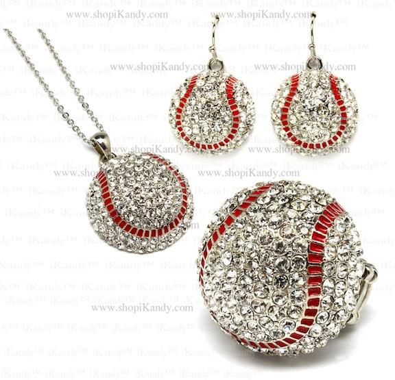 Baseball Sports Jewelry Set