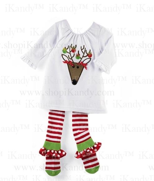 Reindeer Tunic & Ruffle Sock Leggings