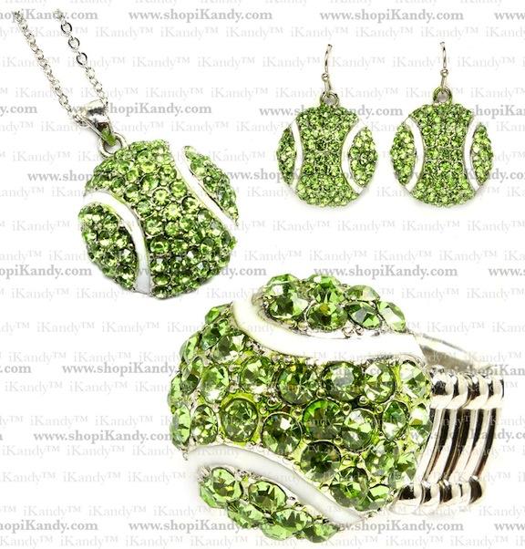Tennis Sports Jewelry Set