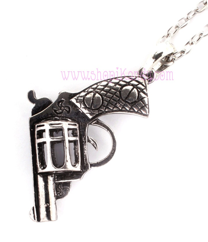 Revolver Gun Necklace Pendant