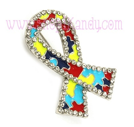 Autism Awareness Ribbon Brooch & Pin