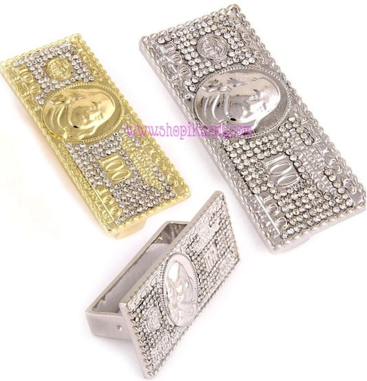 $100 Bill Three Finger Bling Ring
