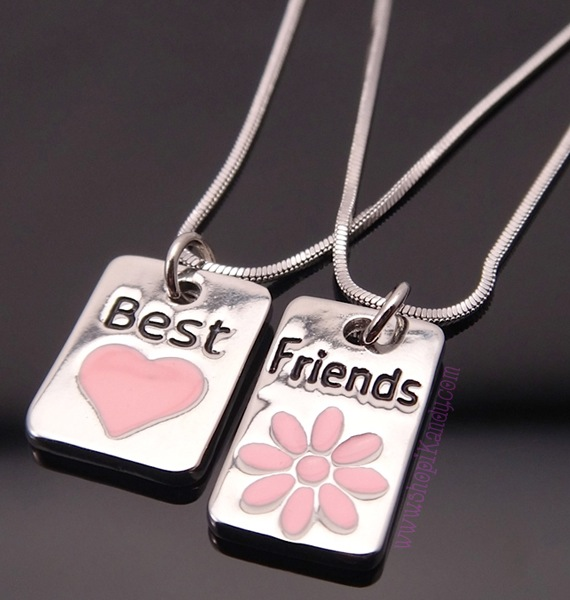 BEST FRIENDS Mini Tile Necklace Set