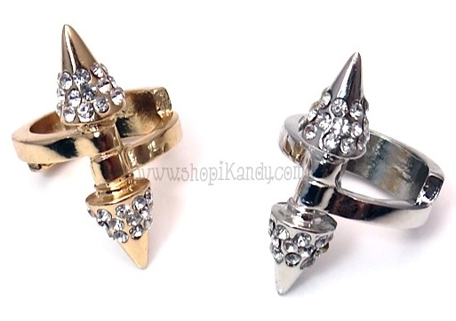 Barbell Spike Bling Ring