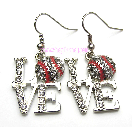 Baseball LOVE Sports Earrings