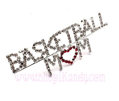 Basketball Mom Brooch and Pin