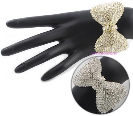 Bling Bow Bracelet