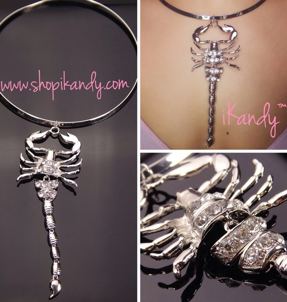 Bling Scorpion Choker Necklace