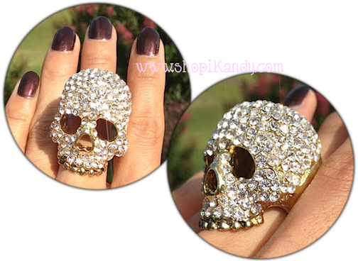 Large Skull Bling Ring