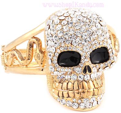 Bling Skull & Snake Bracelet