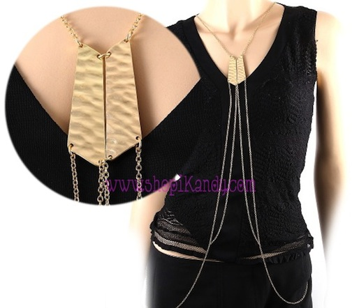 Double Bar Chain Body Armor Jewelry