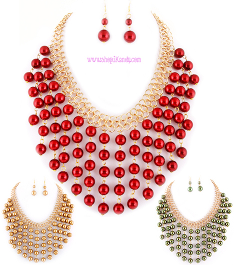 Pearl Bubble Necklace & Earring Set