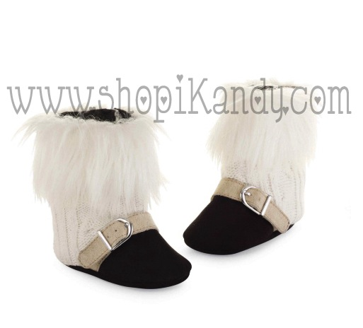 Diva Fur Cable Knit Boots by Mud Pie