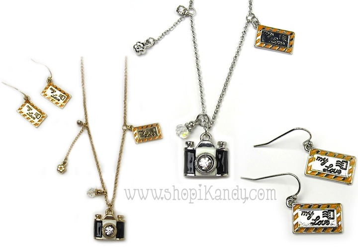 Photography Lover Camera Charm Necklace Set