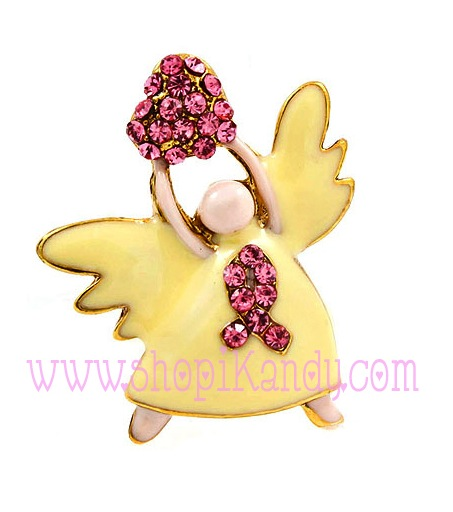 Cancer Survivor Angel Brooch & Pin