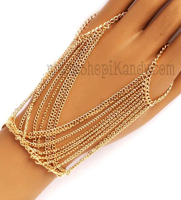 Chain Ringlet (Bracelet w/Ring)