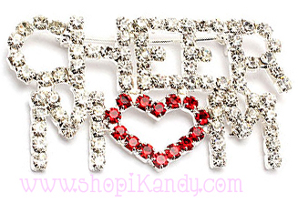 Cheer Mom Bling Brooch and Pin