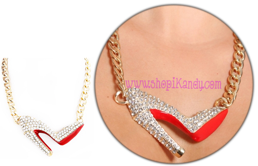 Bling Stiletto Shoe Necklace