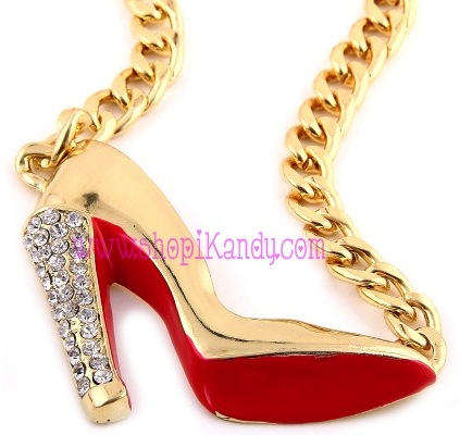 Christian Louboutin Inspired Stiletto Necklace Pendant