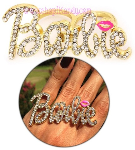 Crystal Bling Two Finger Ring