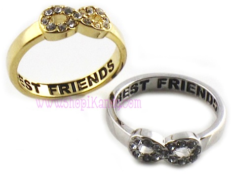 Crystal Infinity Best Friends Ring