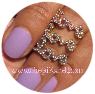Crystal Love Midi Ring