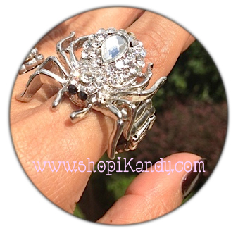 Crystal Spider Ring