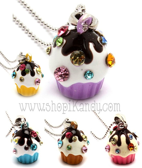 Sweet Treats Cupcake Necklace