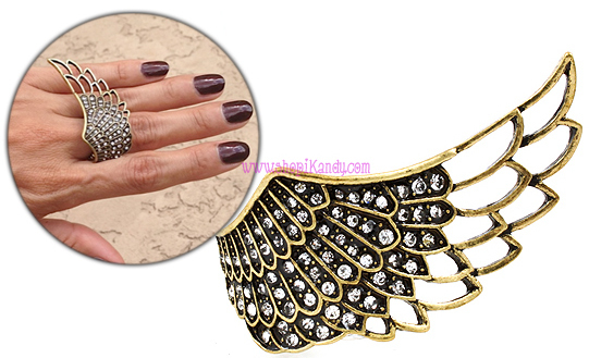 Cutout Angel Wing Ring