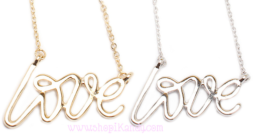 Dainty LOVE Necklace
