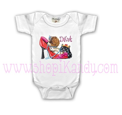 Diva Cute Dog Onesie