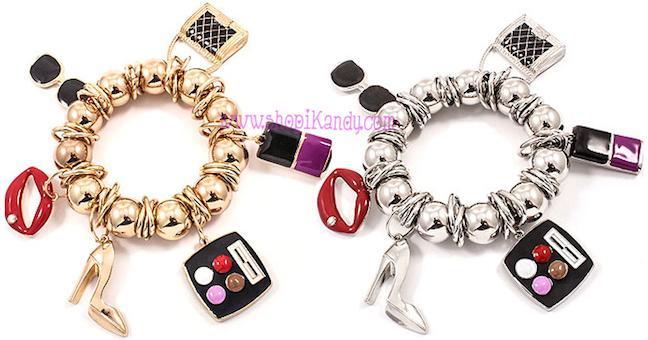 Makeup Fashionista Charm Bracelet