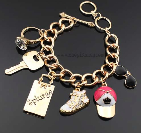 Fashionista Lifestyle Charm Toggle Bracelet