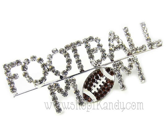 Football Mom Brooch and Pin