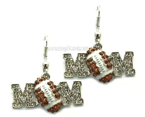 Football Mom Sports Earrings