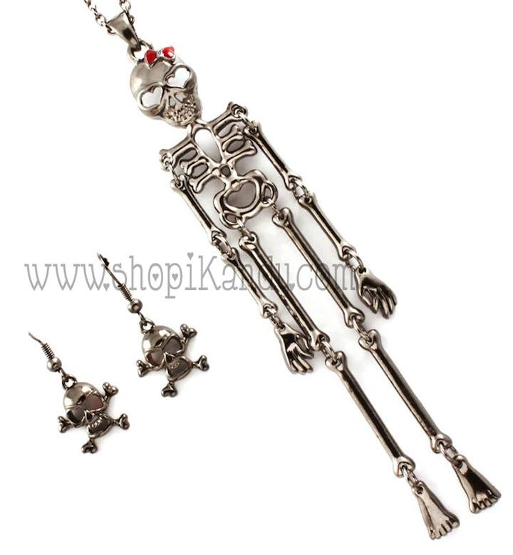Girly Skeleton Necklace Set