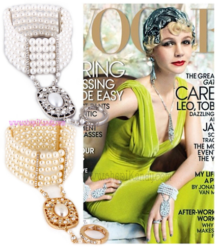 Great Gatsby Bracelet with Ring