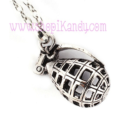 Grenade Pendant Necklace