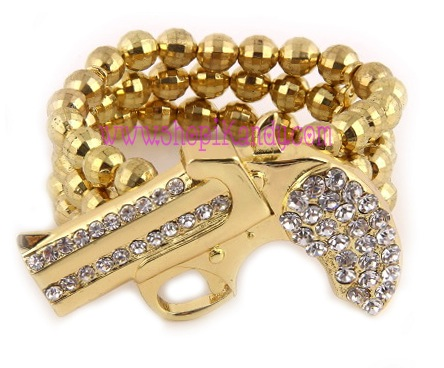 Revolver Gun Stretch Bracelet