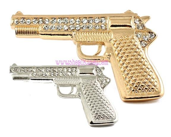 Bling Gun Brooch & Pin