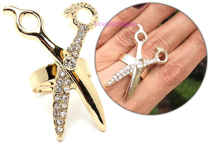 Hair Stylist Scissors Ring
