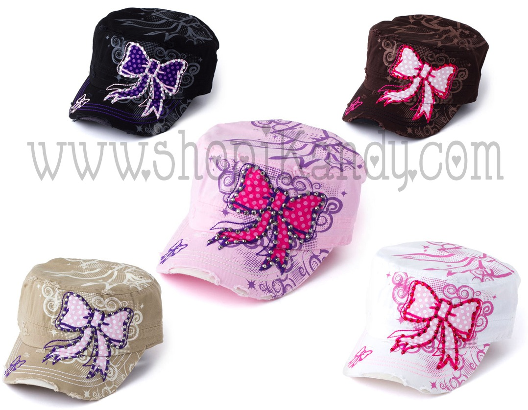 Pink Bow Adult Hat