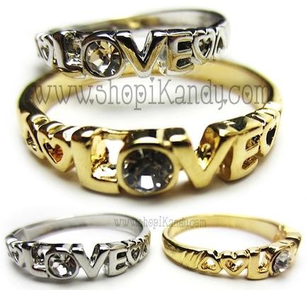 Hearts & Love Crystal Ring