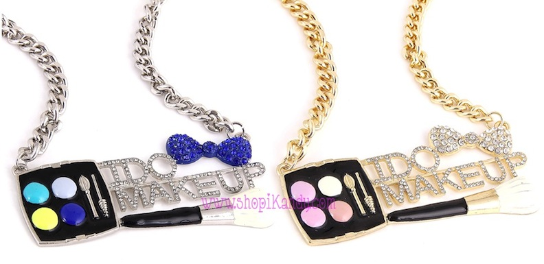 "Palette ""I DO MAKEUP"" Makeup Artist Bling Necklace"