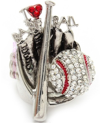 I Love Baseball Sports Ring