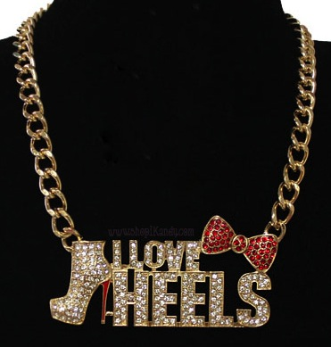 I Love Heels Bling Necklace