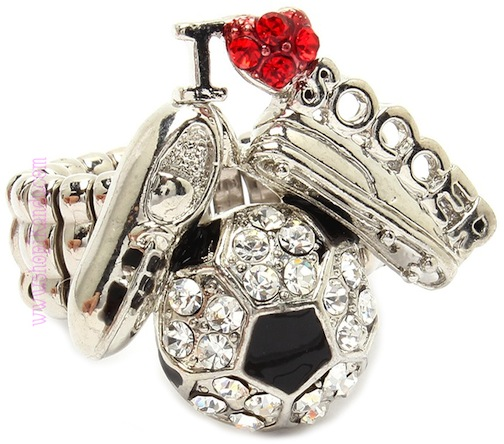 I LOVE SOCCER Sports Ring