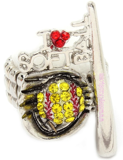 I LOVE SOFTBALL Sports Ring