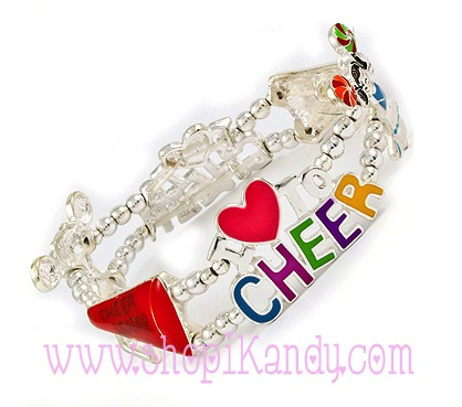 I Love to Cheer Sports Bracelet